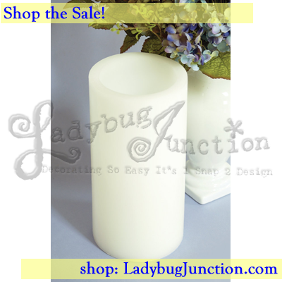 LED Wax Pillar Candle