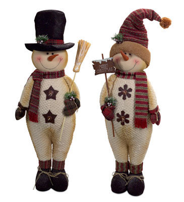 Standing Snowmen Set of 2