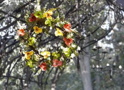 Poppy Ivy Wreath
