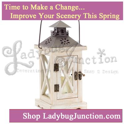 Lantern with 3in x3in LED Outdoor Candle