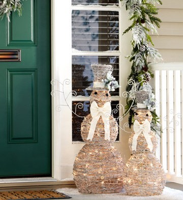 LED Snowy Snowmen Set of 2