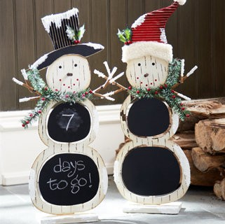 Chalkboard Snowman Set of 2