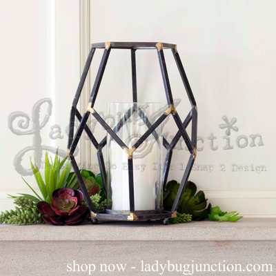 Open Design Candle Holder with Glass