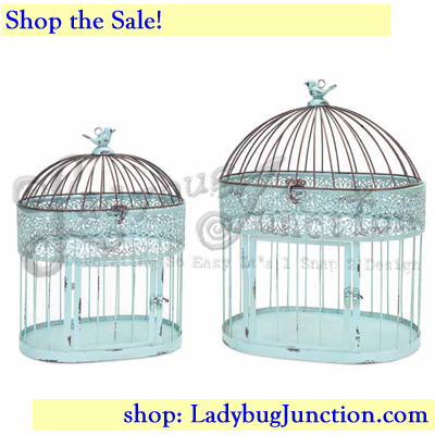 Ornate Birdcage Set of 2