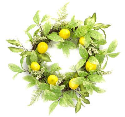 Lemon/Foliage Wreath