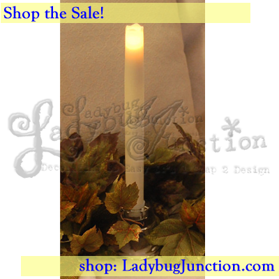 LED Taper Candles Set of 3