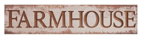 Carved Farmhouse Sign Whitewashed 47X10.5In