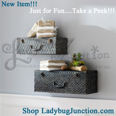 Suitcase Wall Shelf Set of 2
