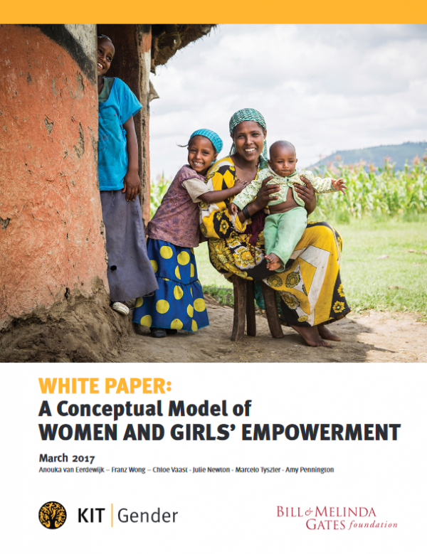 Empowerment of women and girls: conceptual model and measurement guidance