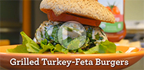 Best Bites: Grilled Turkey-Feta Burgers