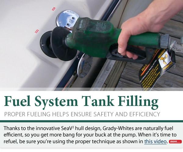 Fuel system tank filling