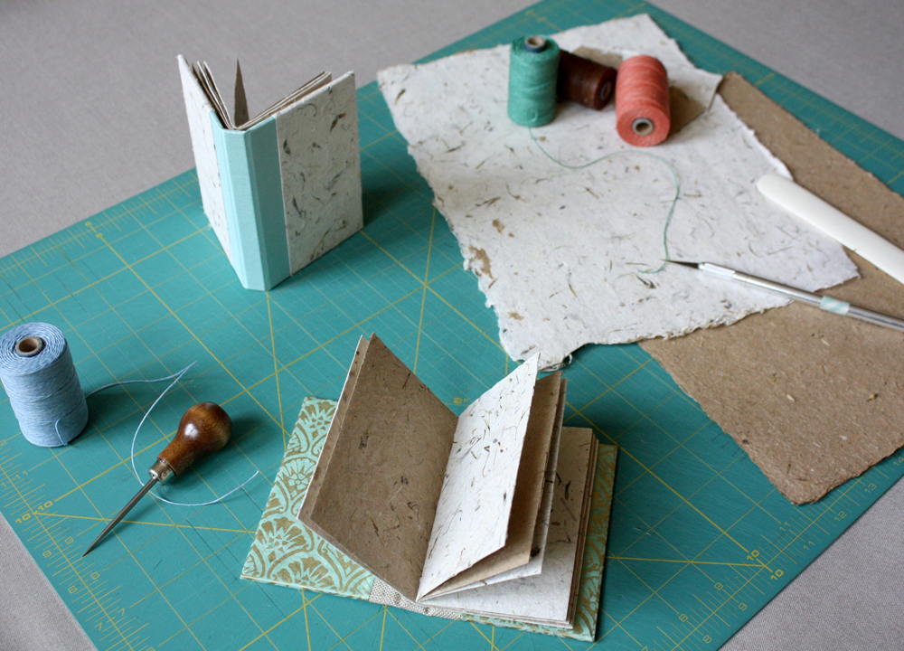 Bookbinding classes in Nashville by linenlaid&felt