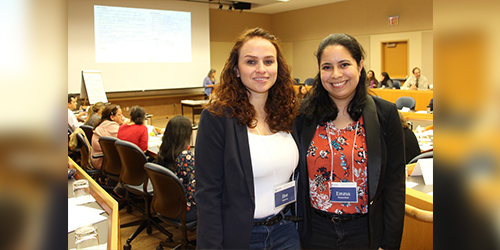 The newly formed Latinx Agricultural Network is an outgrowth of a project spearheaded at Penn State by Ilse Huerta, left, a doctoral candidate in agricultural and extension education, and Emma Rosenthal, a doctoral candidate in plant pathology. IMAGE: PENN STATE