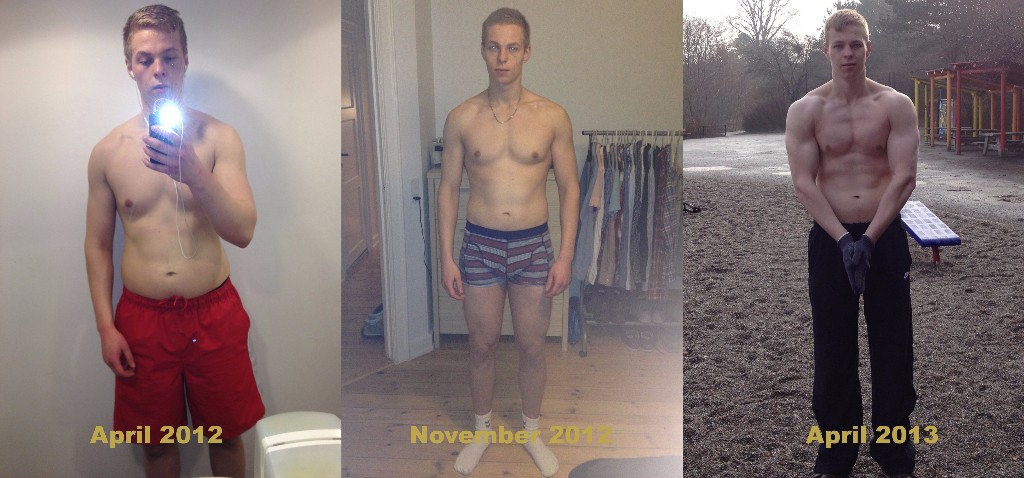 Oskar Faarkrog going through the 2 phases of a skinny-fat transformation and getting ripped in just 1 year