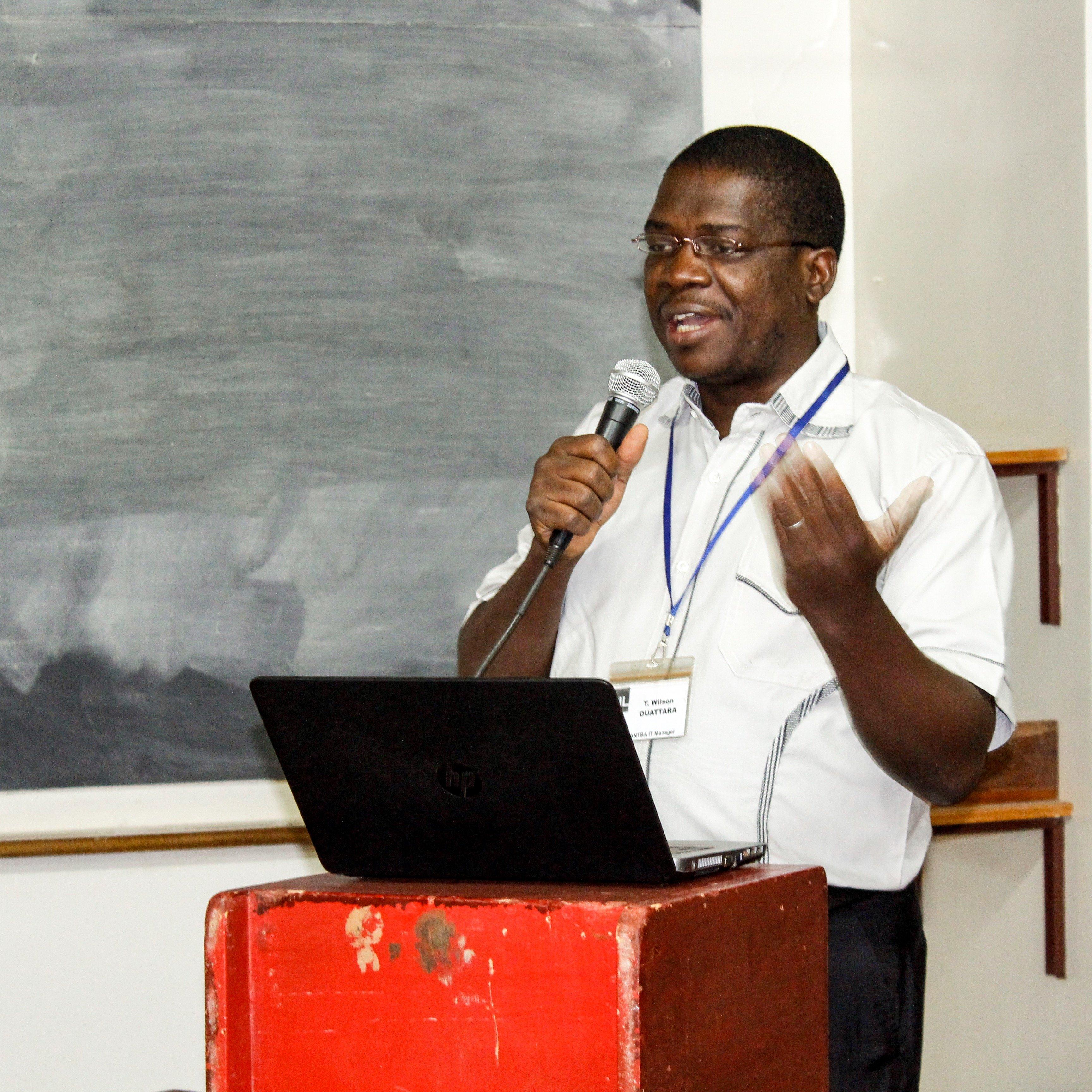 Wilson at a recent workshop