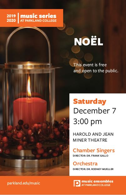 Noel Concert at Parkland Theatre