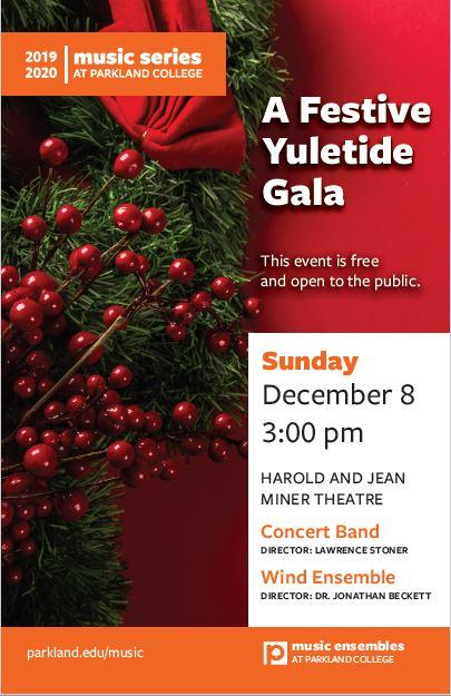 Festive Yuletide Gala Concert at Parkland Theatre
