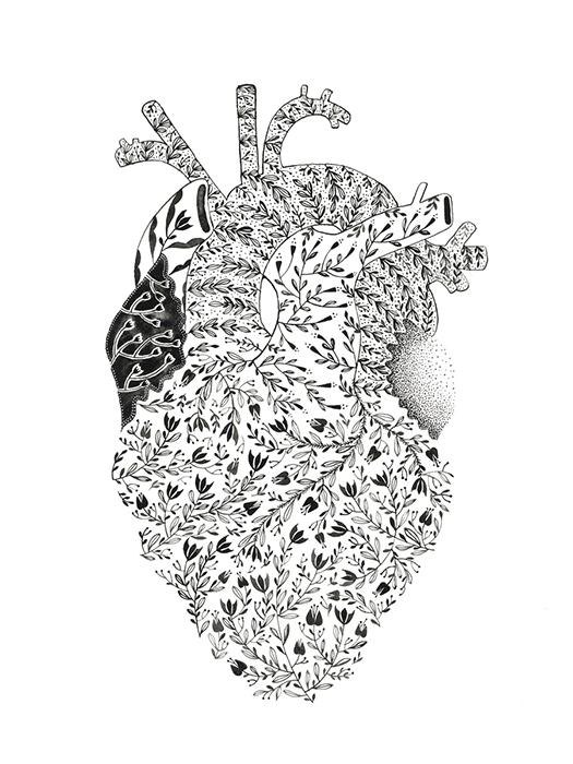 30 flowers in a heart, de Mura