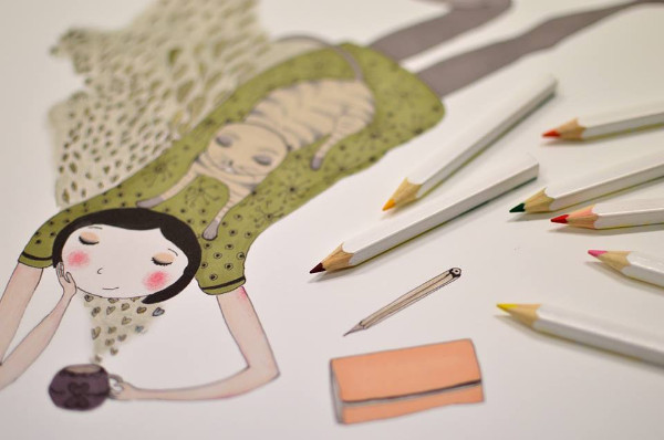 Tea time, de Cristina Barsony - Art print Colorhood.com