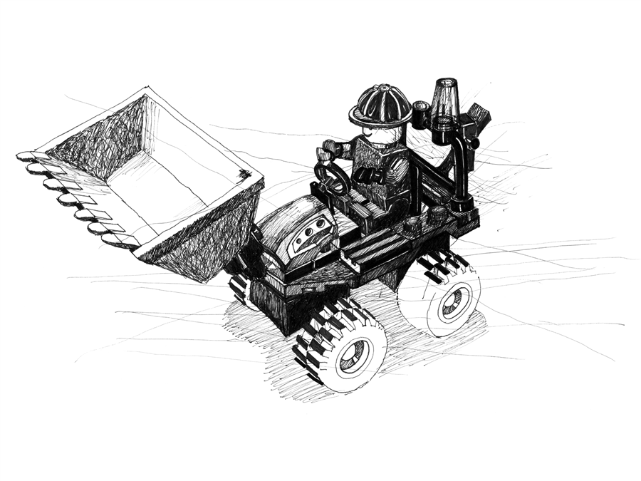 Lego, de Oana Lohan - Art print Colorhood.com