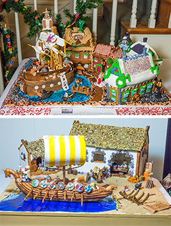 Gingerbread Houses at Ferry Farm