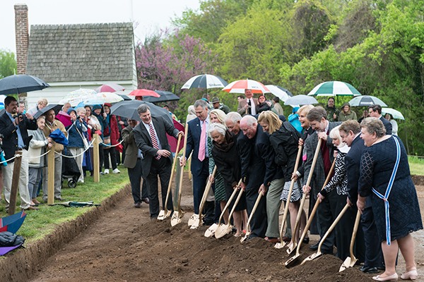 Breaking Ground at the Washington House Site