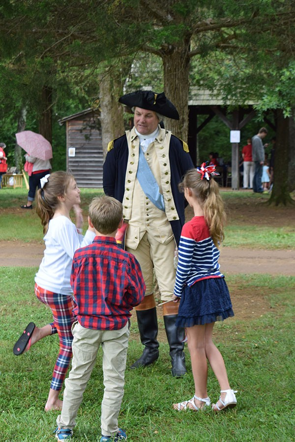 George Washington and July Fourth Visitors