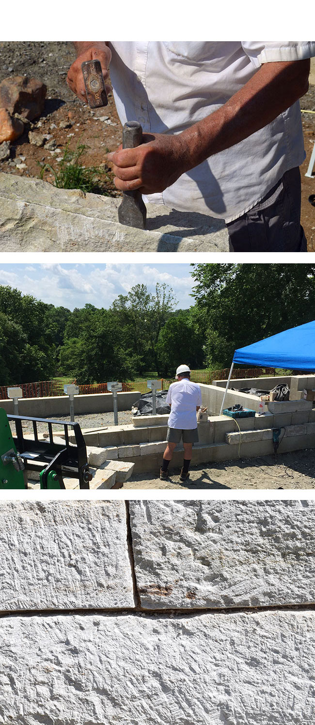 Stone masonry at the Washington house