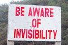 Invisibility sign