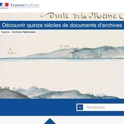 France Archives, portail des Archives de France