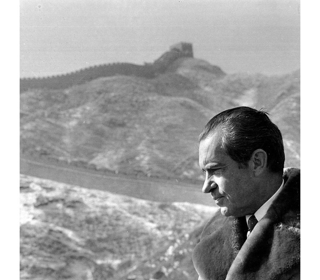 Richard Nixon at the Great Wall of China.