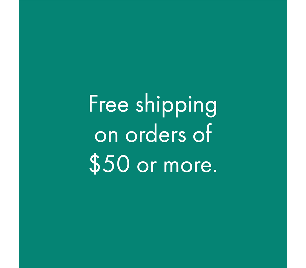 Free shipping on orders of $50 or more.