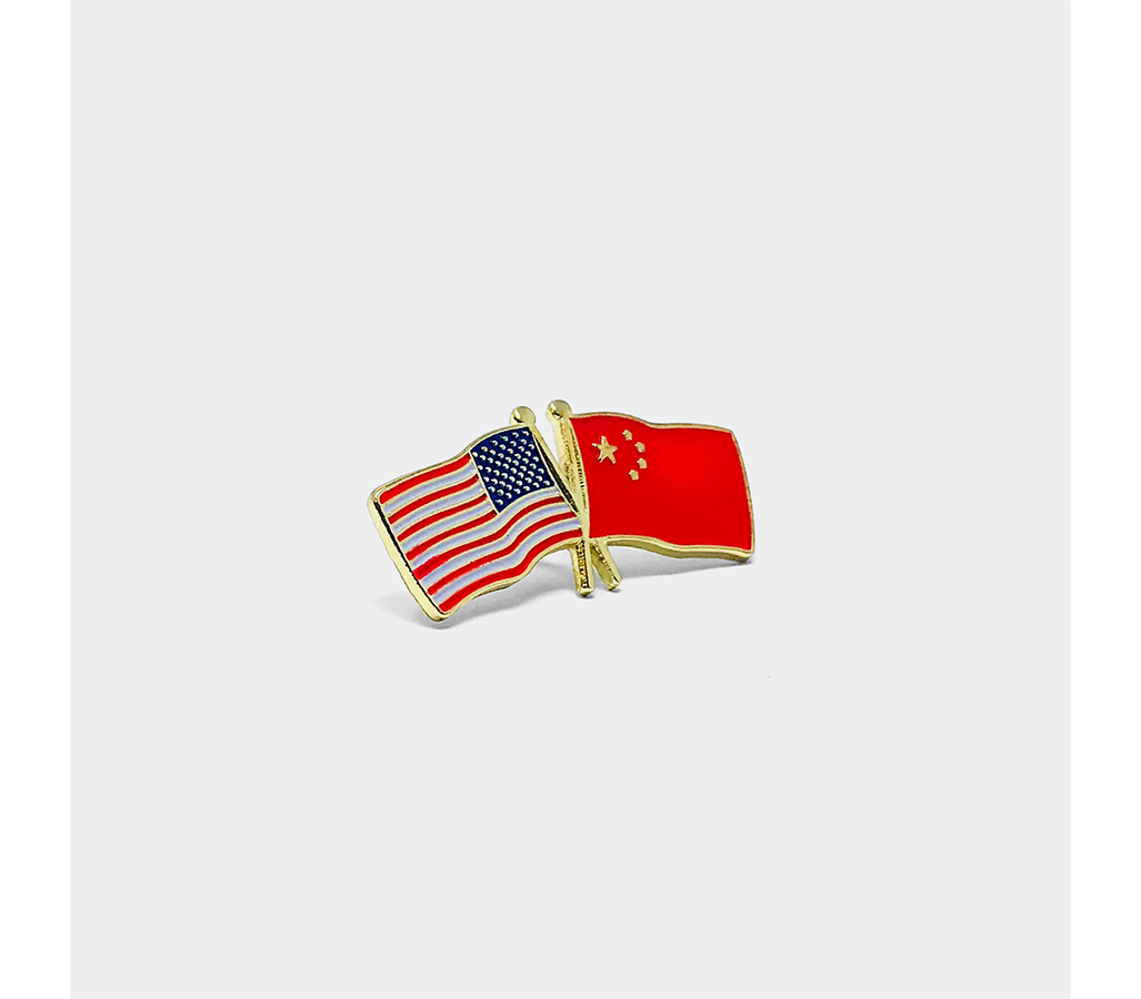 United States and China Flag Pin