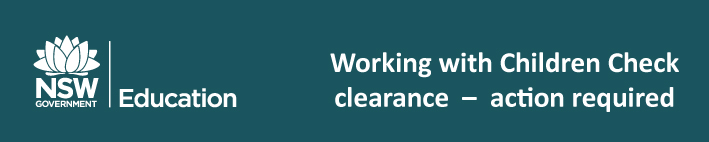 Working With Children Check due 31 March 2017