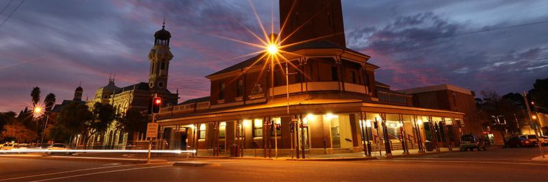 Broken Hill - Argent Street at dusk