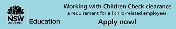 Working with children check clearance, a requirement for all child related employees.