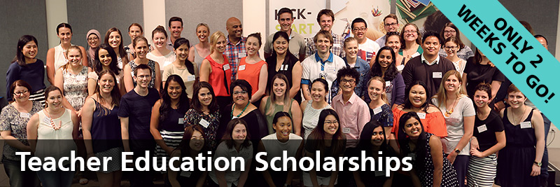Teacher Education Scholarships - only two weeks to go