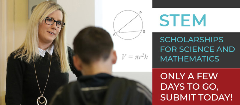 STEM Scholarships, only a few days to go, submit today