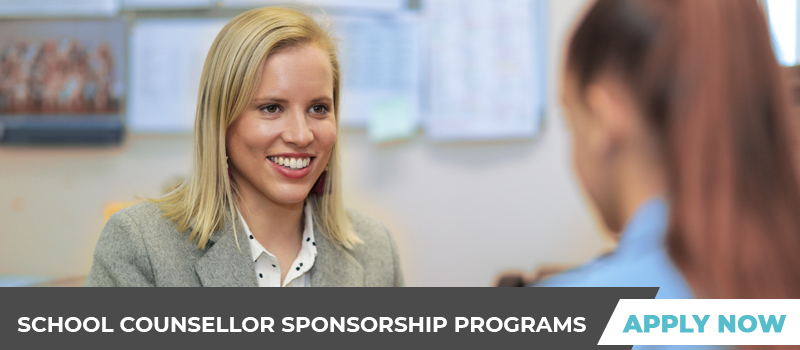 School counsellor sponsorship programs - apply now!