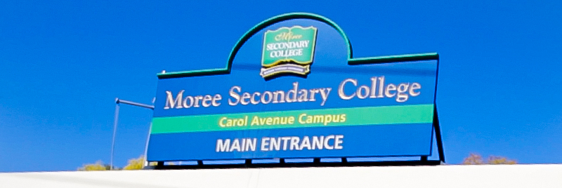 Moree Secondary College sign