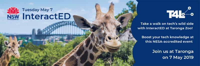 InteractED at Taronga Zoo, Tuesday May 7