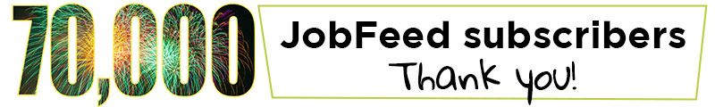 70000 JobFeed subscribers. Thank you!