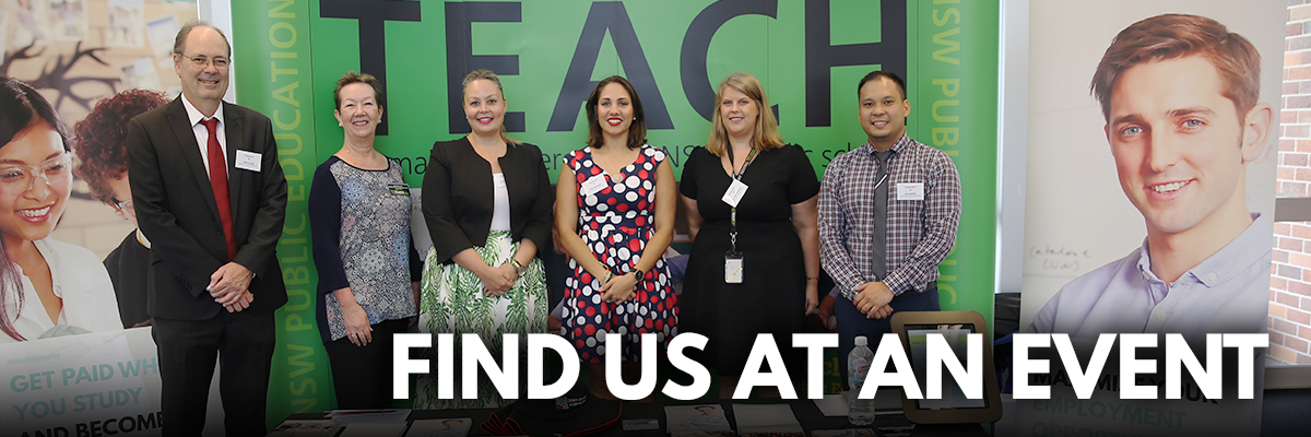 Find teach.NSW at an event!