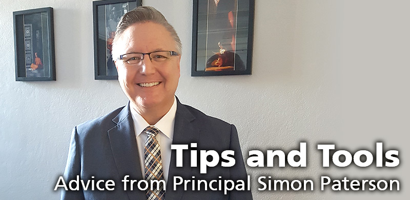 Advice from Principal Simon Paterson