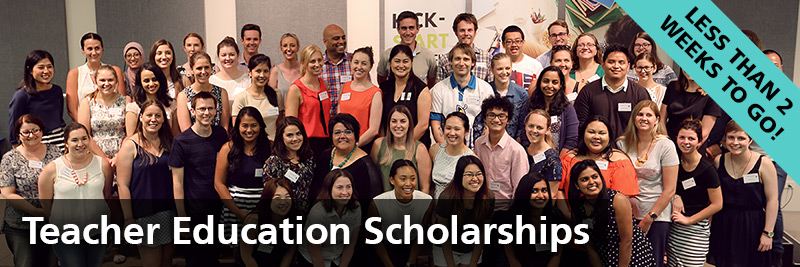Teacher Education Scholarships - less than two weeks to go
