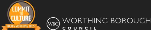 Commit to Culture - Adur & Worthing Trust logo / Worthing BC logo