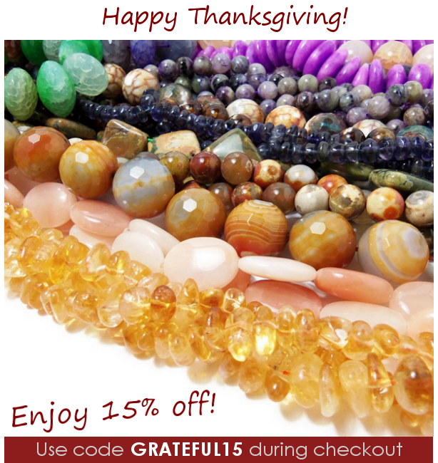 Use code GRATEFUL15 to save 15% on all orders through Dec 2, 2013!