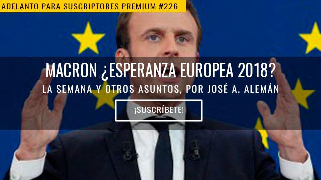 Macron ¿esperanza europea 2018?