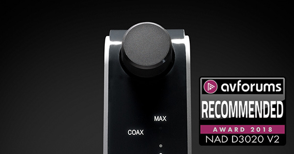 NAD D 3020 V2 Wins Recommended Award from AVForums