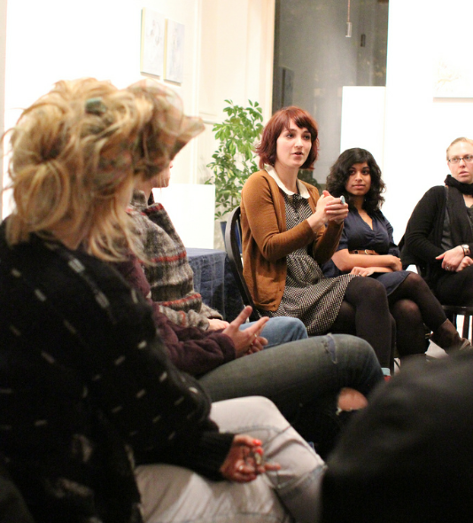 A discussion at the Salon Series
